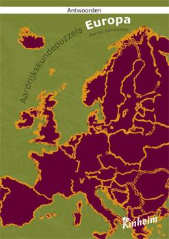 Aardrijkskundepuzzels europa antwoordenboek