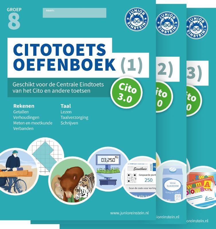 Junior Einstein Citotoets Oefenboeken Groep 8 - Cito 3.0 - Deel 1, 2 en 3