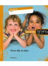 Lekker Lezen basispakket 6 werkboek - Door dik en dun (AVI-M5)