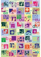 Van beginnende geletterdheid tot lezen - grote Letterposter