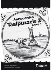 Taalpuzzels 2 antwoordenboek