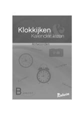 Klokkijken & Kalender lezen B Antwoorden