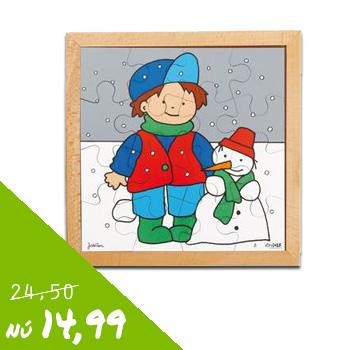 Houten puzzel - winter van 24,50 voor 14,99